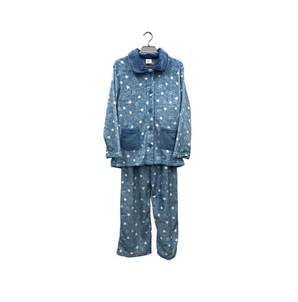 レディース もこもこパジャマ 星柄&無地 18AW-025