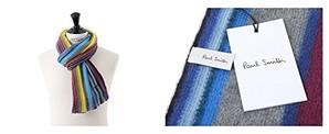 Paul Smith ポールスミス マルチストライプ ウール マフラー フリンジ ストール カラー3色 各色1個売り