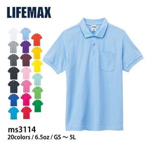 【LIFEMAX】メンズ ポケット付 鹿の子ポロシャツ 大きいサイズ