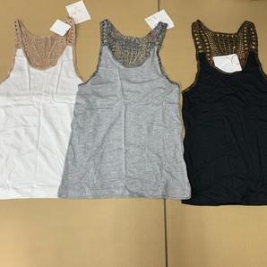 土曜市!オリジナル・レディスファッションブランド TRAPEZiSTAタンクトップ3点SET!日本製