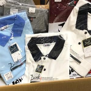 4セットのみ!自重堂!ドライ系ポロシャツ&ワークドライ長袖Tシャツ 1セット30枚