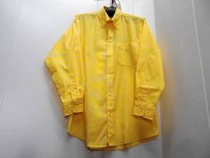 紳士アルトギンガム長袖シャツ・1色 イエロー1色