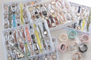 土曜市!フィールドワークス社 レディス腕時計 超お得!混み混み100個福箱 電池交換済!
