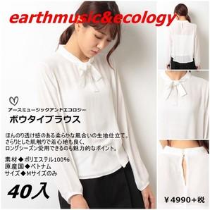 定価4990円+税!earth music&ecologyアースミュージック&エコロジー ボウタイブラウスMサイズ