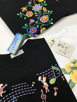 LITTLE ROMANCE 婦人 立体工法プリント UVカット 半袖Tシャツ 混み混みセット 大丸で3490円の人気品