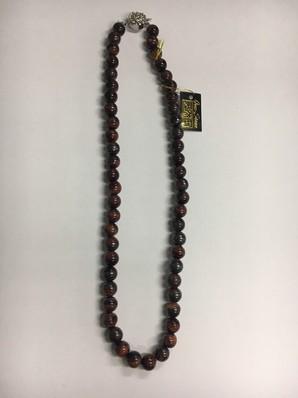 1セット限定!天然石8MM(40cm)レッドタイガーアイネックレス
