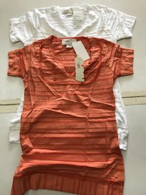 土曜市!ネットショップ閉店換金処分!  【STUSSY GIRL】ステューシーガール ボタンストライプ Tシャツ