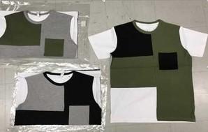 メンズ サマーブロッキング半袖Tシャツ 3カラー 1セット 24枚入り!!