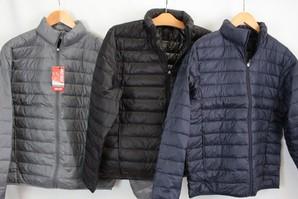 【WARM DOWN】メンズ ライトウエイトダウンジャケット 3色展開 10枚セット 品番:1346-79-09