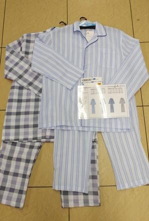10880351【紳士】リップルプリント 長袖テーラーパジャマ 24枚