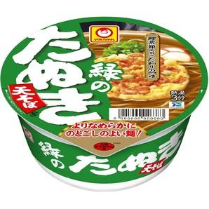 マルちゃん 緑のたぬき天そば(東)101g 12個×2ケース単位
