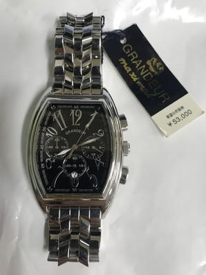 GRANDEUR 腕時計 定価53000円 訳あり 電池切れ 1個のみ!