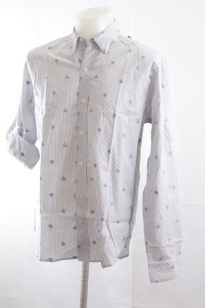 お宝SALE!DENHAMデンハム メンズピンストライプシャツ 1枚のみ限定!定価25200円が超激安!