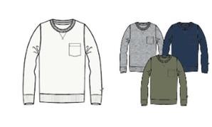 フライング スコッツマン ポケット付きリブロングTシャツ 18枚入り 551838301