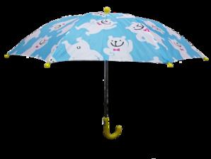 【わけあり】キッズ クマ柄傘 手開き型 2色展開 45cm 24本セット