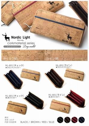 激安です!!Nordic Lightノルディックライト コルクLファスナーウォレット