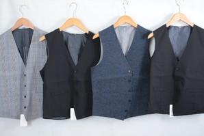 SALE!某有名Yシャツメーカーメンズ高級前開き ベスト 30枚セット 1000円切り!