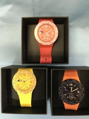 土曜市!【ATOP】アトップ 世界腕時計 ワルードタイム腕時計 3個 (ケース、取説あり)