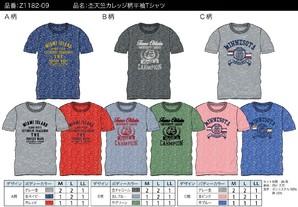 【ZEKY/ゼキー】メンズ 杢天竺 カレッジ柄 半袖Tシャツ 3柄展開 36枚セット