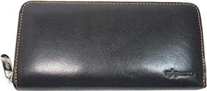 【ALPHA/アルファ】メンズ イタリアンレザー ラウンド長財布 17個セット 1箱限定 品番:40092
