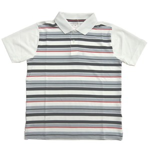 [(ナイキ ゴルフ) NIKE GOLF] キッズ トップス DRI-FI ボーダー 半袖 ポロシャツ 401497 ¥5200