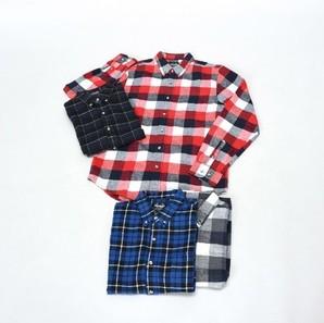 紳士チェック2柄込ネルシャツ 20枚セット! 301437