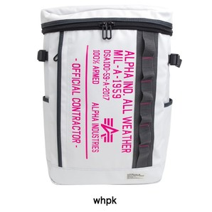 ALPHA スクエアリュック ホワイト×ピンク 20個セット 激安処分!400560075