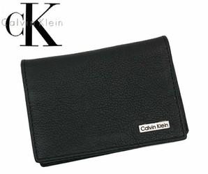 Calvin Klein   ≪カルバンクライン≫ 名刺入れ (カードケース) / 79218 ブラック (黒) 上代4980円