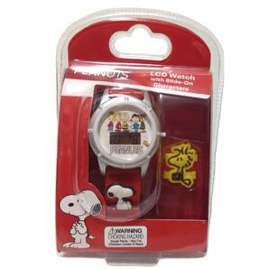 PEANUTS ピーナッツ スヌーピー LCD ウォッチ 腕時計!電池切れ処分品
