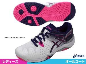 asics レディーステニスシューズ  レディゲルレゾリューション6  1セット 8足入り!!上代14500円