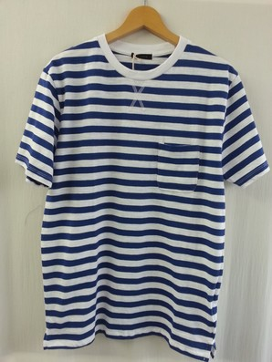 【CPS】メンズ ポケット付き ボーダーTシャツ 4色展開 40枚セット 品番:186-7203