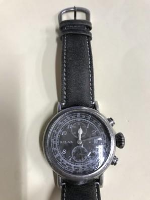 メンズ 腕時計 クロノグラフ RELAX vintage リラックスヴィンテージ 革ベルト 定価17000円