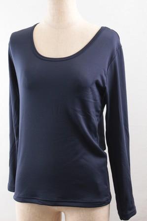 レディス 暖かいインナー 裏起毛 長袖丸首Tシャツ 40枚セット 10789591