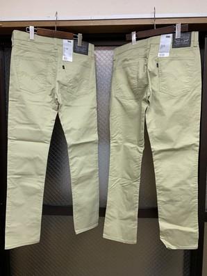 あけおめ!!リーバイス510と511のカーキ色パンツ4本SET!