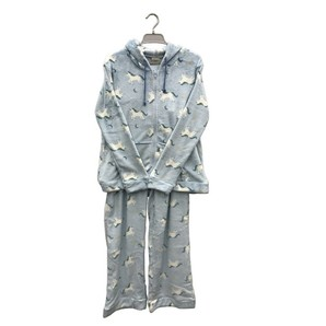 【レディース】18AW-017 もこもこ ZIPUPパーカーパジャマ(ユニコーン柄)15枚