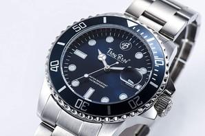 [トロイブロ]Troy Bros 腕時計 三針 デイト TAC-21151-04 メンズ 1個売り 文字盤ネイビー