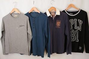 REPLAY メンズ 秋向け 長袖Tシャツ&ポロシャツ 30枚服箱