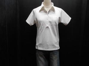 先着1セットのみ!ちょっと小さめサイズの貴女必見!婦人半袖ポロシャツ・オフホワイト1色