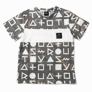 966631【RUSTY】ラスティーキッズ キッズUVTEE(ロゴ総柄)  サイズ130/16枚