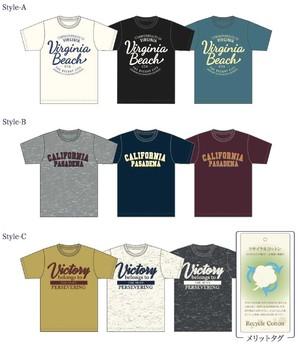 【Campanello】メンズ 天竺 アメカジロゴII柄プリント 半袖Tシャツ 3柄展開 40枚セット 品番:MT172-04