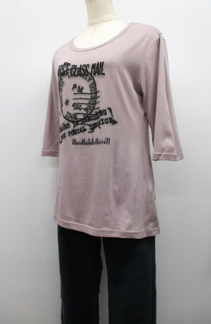 袖の長さが色々混み!レディースプリントTシャツ!