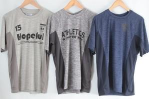 エアリードライ 吸汗速乾 メンズプリントTシャツ 3柄 30枚セット 40052