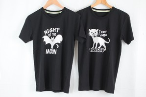 ラスト2ケース!LUCKYSTORE レディス フロッキープリント レディスTシャツ 物は最高に良いです!50枚セット