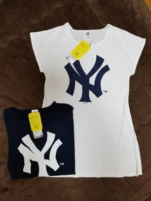 SALE NEWYORKヤンキース&ドジャース レディスTシャツワンピース 50枚服箱