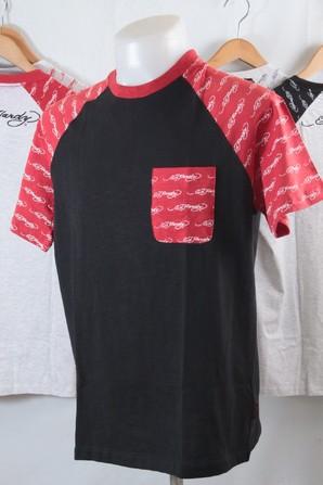 SALE!!ED-8401 【EDHARDY】 エドハーディー メンズ 切り替えプリント 半袖Tシャツ 30枚 画像使用OK