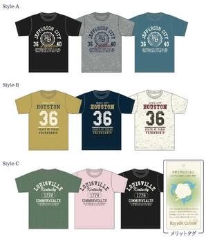 【Campanello】メンズ 天竺 アメカジ柄プリント 半袖Tシャツ 3柄展開 40枚セット 品番:MT172-02