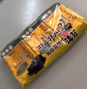 超美味しい!!韓国味付け海苔 24パック 24枚で68円です!