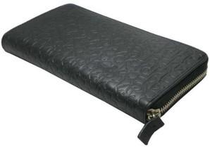 訳あり!【Calvin Klein】カルバンクライン  ブラック ロゴ型押し 長財布 2個セット
