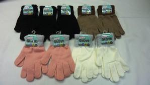 レディス のびのび手袋 手首もこもこ 4色展開 240双セット 品番:LG222135/go-do<RE>