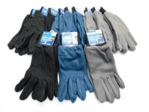 メンズ フリース手袋 手首切替 リブ仕様 3色展開 120双セット 品番:GG9920-99/go-do